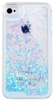 IKASEFU Case for Iphone 4 4s,Cover for Iphone 4 4s,Cute Case for Iphone 4 4s,Liquid Case for iPhone 4 4s,Bling Case for iPhone 4 4S,Hard Case for iPhone 4 4S, Creative Design Cute Flowing Liquid Floating Luxury Bling Glitter Sparkle Love Heart Hard Case for Apple iPhone 4 4S(Heart,Blue)