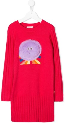 Billieblush Embroidered Detail Knit Dress