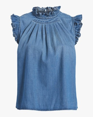 Frame Ruffle Sleeveless Top