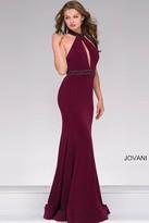 Jovani Beaded High Neck Prom Dress 45034