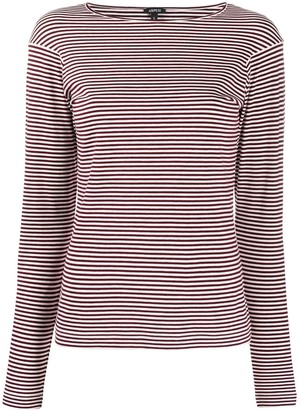 Aspesi Long Sleeve Striped-Knit Pullover