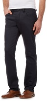 Jeff Banks Navy Coated Straight Fit Jeans