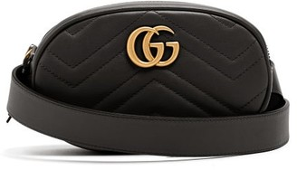 Gucci Gg Marmont Quilted-leather Belt Bag - Womens - Black