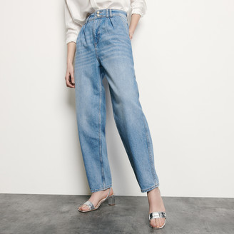 Sandro High-waisted jeans with pearl buttons