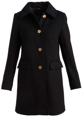 Tahari Women's Car Coats BLACK - Black Button-Back Wool-Blend Peacoat - Women
