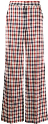 Victoria Victoria Beckham High-Waisted Checked Trousers