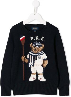 Ralph Lauren Kids Intarsia Bear Sweater