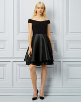 Le Château Twill Off-the-Shoulder Fit & Flare Dress