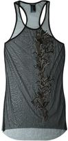 Ann Demeulemeester sheer embellished tank top