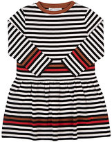 Sonia Rykiel STRIPED COTTON FIT & FLARE DRESS