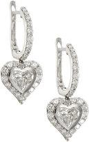 Neiman Marcus Diamonds 18k White Gold Diamond Heart Drop Earrings, 1.63tcw