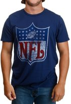 Junk Food Clothing Men's NFL Navy Logo T-Shirt