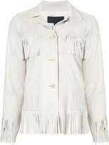 Nili Lotan fringed leather jacket - women - Lamb Skin - 10