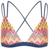 Topshop Strappy zig zag triangle bikini top
