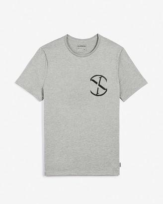 Express Gray Logo Graphic T-Shirt