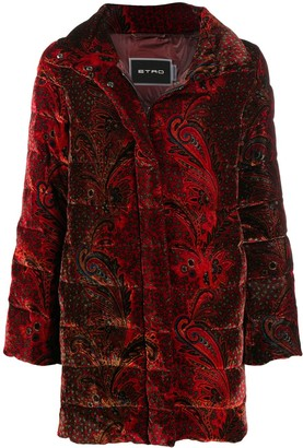 Etro Paisley Print Puffer Coat