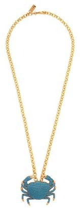 BEGÜM KHAN Royal Crab Gold-plated Pendant Necklace - Blue