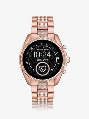 Michael Kors Gen 5 Bradshaw Pave Rose Gold-Tone Smartwatch