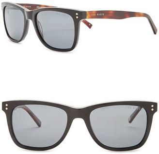 Ted Baker 53mm Polarized Acetate Frame Square Sunglasses