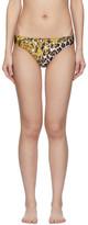 Versace Underwear Multicolor Barocco Animal Bikini Bottom