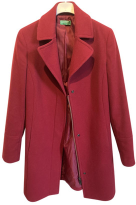 Benetton Red Wool Coats