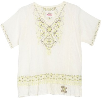 Johnny Was Velda Embroidered Short Sleeve Top