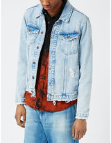 Topman Topman Distressed Denim Jacket
