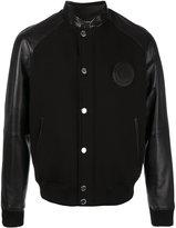 Versace bomber jacket - men - Cotton/Lamb Skin/Spandex/Elastane - 48