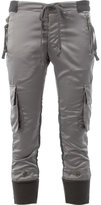 Greg Lauren - cargo cropped trousers - women - Cotton/Polyester/Spandex/Elastane/Satin - 1