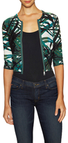 Tracy Reese Printed Zip Front Cardigan
