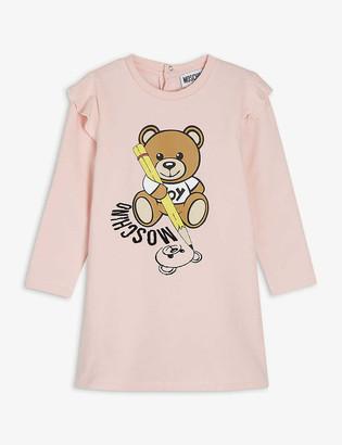 Moschino Branded bear-print stretch-cotton dress 3-36 months
