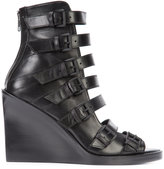 Ann Demeulemeester buckle strap boots - women - Calf Leather/Leather - 36