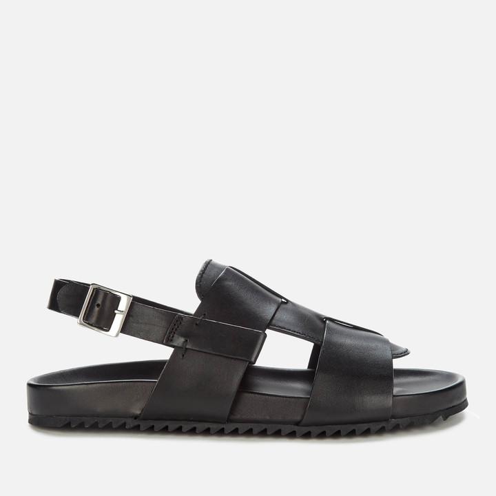 Grenson Men's Wiley Leather Sandals - Black