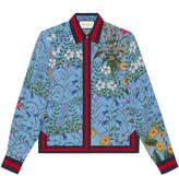 Gucci New flora print silk shirt
