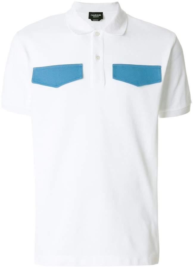 Calvin Klein contrast flap polo shirt