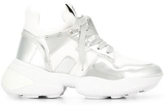 Hogan Metallic Platform Sneakers