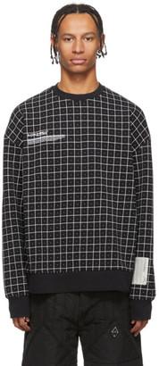 A-Cold-Wall* Black Grid Sweatshirt