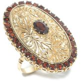 Tatitoto Gioie Women's Ring in 18k Gold with Garnet, Size 8, 26 Grams