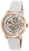Invicta 22655 Women's Objet d'Art Automatic White Satin and Dial Rose-Tone
