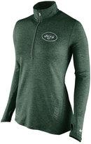 Nike Women's New York Jets Stadium Element Quarter-Zip Pullover