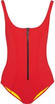 Lisa Marie Fernandez Jasmine Bonded Swimsuit - Tomato red