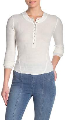 Free People One of The Girls Henley Top