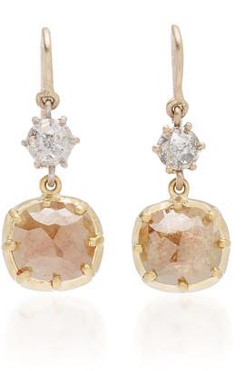 Sylva & Cie 18K Gold Diamond Earrings