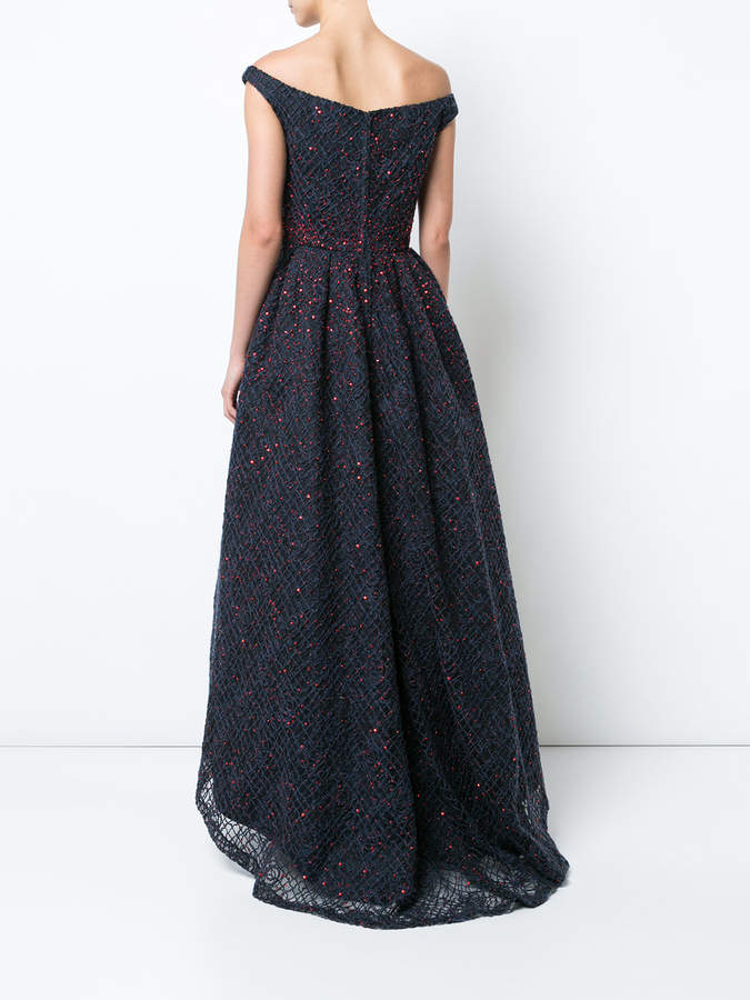 Carolina Herrera off-shoulder flared gown