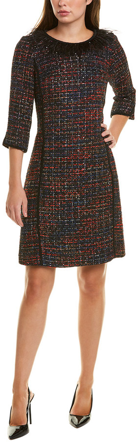 Thumbnail for your product : Sara Campbell Tweed Feather Shift Dress