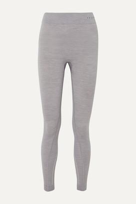FALKE ERGONOMIC SPORT SYSTEM Melange Wool-blend Leggings - Light gray