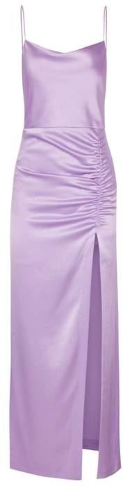 Alice + Olivia Diana Lilac Satin Gown