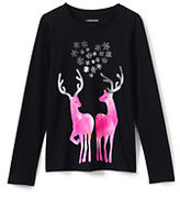 Classic Girls Plus Novelty Roll-Neck Graphic Tee-Let It Snow