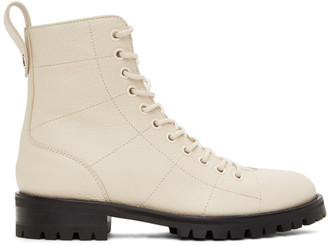 Jimmy Choo Off-White Cruz Flat Boots