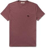 Burberry Slim-fit Mélange Cotton-jersey T-shirt - Burgundy